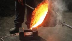 Iron casting Stock Footage