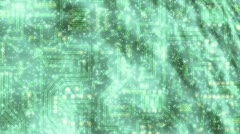 Circuit board - galaxy Stock Footage