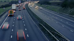 Motorway Traffic Stock Footage