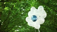 Blue balloon escape Stock Footage