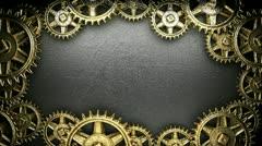 Loop gear-weels on background Stock Footage