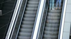 Escalator - stock footage