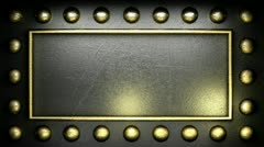 Loop lights on metall Stock Footage