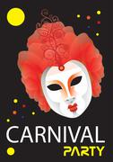 Carnival party image Stock Illustration