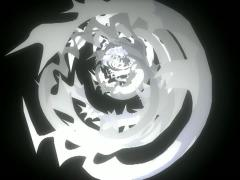 Circular Metal Tribal Objects create Tunnel Effect VJ Loop Stock Footage
