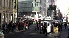 Berlin Footage, Checkpoint Charlie - stock footage