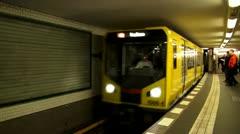 Berlin Footage, U-Bahn, Subway, Metro Stock Footage
