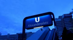 Berlin Footage, Alexanderplatz Stock Footage