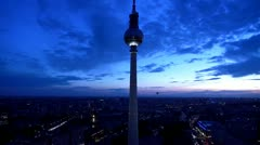 Berlin Footage, Aerial View, Skyline, Fernsehturm, Alex, Alexanderplatz Stock Footage