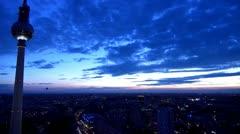 Berlin Footage, Aerial View, Skyline, Fernsehturm, Alex, Alexanderplatz Stock Footage