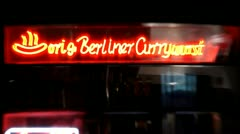 Berlin Footage, Currywurst, German Sausage Stock Footage