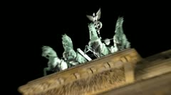 Berlin Footage, Brandenburger Tor, Bandenburg Gate, Quadriga Stock Footage