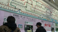 Ticket booth at Tokyo station Stock Footage