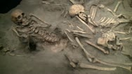 Stock Video Footage of 130110 pompeii body cast of skeletons 2