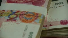 Large sums of money RMB.Financial Freedom.Mao Zedong leader Avatar. Stock Footage