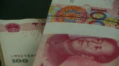 large sums of money RMB.Financial Freedom.Mao Zedong leader Avatar. - stock footage