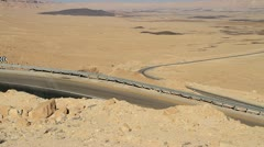 An Israeli Tank Moves Through, the Negev Desert, Israel. - stock footage