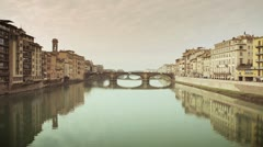 Florence - Bridge on Arno river 14 Stock Footage