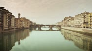 Stock Video Footage of Florence - Bridge on Arno river 14