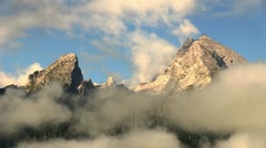 Mountain Watzmann, timelapse Stock Footage