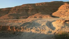 Drive-by of the Makhtesh Ramon desert floor in Israel. Stock Footage