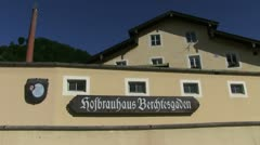 Brewery in Bavaria, Germany, Hofbrauhaus Berchtesgaden Stock Footage