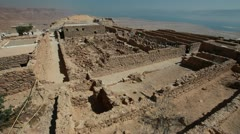 Masada antiquities - stock footage