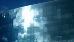 Clouds reflected in office building. ProRes 422 Stock Footage