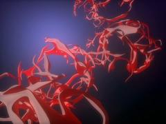 Organic Red Vessel Abstract Orbit Motion Animation - stock footage