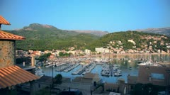 Marina in Port de Soller, Mallorca Island, Spain Stock Footage