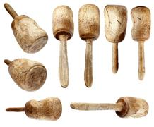 Carpenter wooden hammer collection Stock Photos