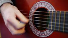 Acoustic guitar Stock Footage