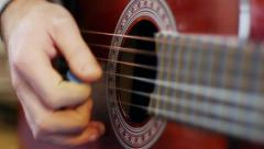 An acoustic guitar Stock Footage