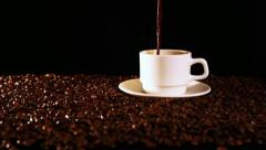 cup of coffee - stock footage