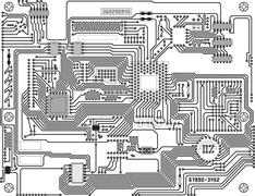 Circuitry - industrial high-tech background Stock Illustration