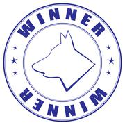 Sketch of stamp for certificate of canine club Stock Illustration