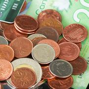 canadian money - stock photo