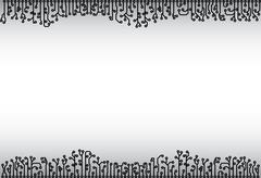 Abstract background - electronic monochrome elements Stock Illustration