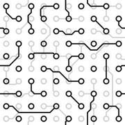 seamless texture - circuit board - stock illustration