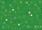 Electronic hi-tech abstract green background Stock Illustration