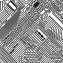 Square background - electronic circuit board Stock Illustration