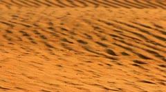 Golden sand dunes in desert. Desert landscape in Sahara. Sand dunes background Stock Footage