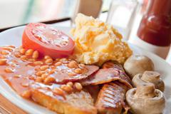 full english breakfast - stock photo