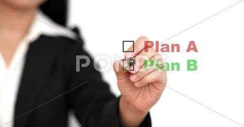 Stock Illustration of business plan b