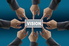 vision of diverse business team - stock illustration
