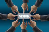 Stock Illustration of vision of diverse business team