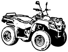 Four-wheel motorbike atv Stock Illustration
