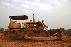 Stock Photo of construction bulldozer