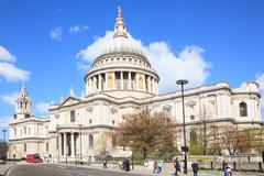 st. paul cathedral london - stock photo