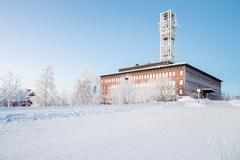 kiruna city hall sweden - stock photo